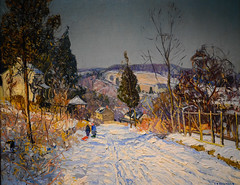 Edward Redfield - Winter at Point Pleasant, 1924 at Chrysler Museum of Art Norfolk VA (mbell1975) Tags: norfolk virginia unitedstates us edward redfield winter point pleasant 1924 chrysler museum art va museo musée musee muzeum museu musum müze museet finearts fine arts gallery gallerie beauxarts beaux galleria painting impression impressionist impressionism american
