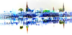 Spielerei (petra.foto busy busy busy) Tags: art kunst city cityscape reflexion spiegelung digitalart lübeck schleswigholstein germany petraart fotopetra canon langzeitbelichtung