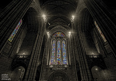 Liverpool Cathedral West Window (jonathancoombes) Tags: liverpoolcathedral westwindow stainedglass church cathedral religon anglican explore blackandwhite monochrome