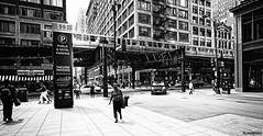 Chicago. (alamsterdam) Tags: chicago loop people train monochrome cars streetphotography
