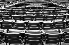 Before the Show (HJharland5) Tags: stadium seats cupholder venue monochrome pattern cleveland ohio sports repeating
