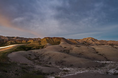 The Fades and The Glows (JeffMoreau) Tags: long exposure badlands national park south dakota sony a7ii zeiss tripod light trail yellow mounds sodak