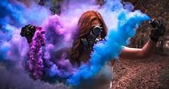 Pyro Princess (josht712) Tags: blue purple light gaye enola illusion halloween apocalyptic princess flash creative 5d canon steampunk art bomb grenade smoke