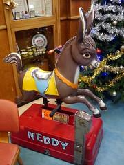 Neddy - 2 (the justified sinner) Tags: justifiedsinner donkey toy ride neddy cafe brucciani deco morecambe lancashire seaside winter town panasonic 17 20mm gx7