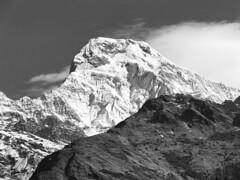 20150317_083354- on1 (douglasjarvis995) Tags: asia camera galaxy samsung landscape view hills snow nepal mountain bnw mono