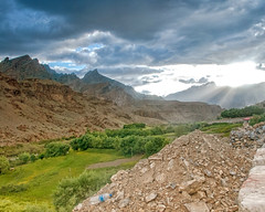 CastingLight (madentropy) Tags: rays landscape ladakh travel india incredibleindia mountains rain sunpeek leh