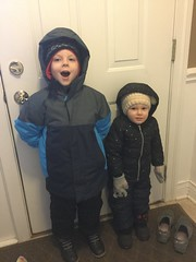 """Paul and Dani Get Ready to Go Out in the Snow • <a style=""""font-size:0.8em;"""" href=""""http://www.flickr.com/photos/109120354@N07/39967596893/"""" target=""""_blank"""">View on Flickr</a>"""