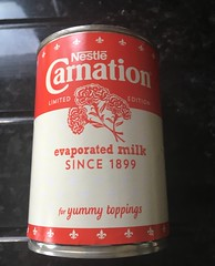 Retro (Katy Wrathall) Tags: evaporatedmilk can carnation cooking 2019pad 36532