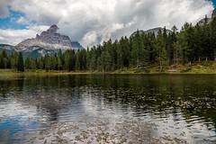 Lago d'Antorno (BL) (Ondablv) Tags: alpino nuvole bolzano alto adige riflessi reflectio bosco abeti massiccio ondablv alberi trentino dolomiti tre cime lavaredo controluce
