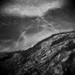 Silver Lake in Winter #48 (LowerDarnley) Tags: holga silverlake winter ice cracks shore rocks lake frozen saugus ma breakheartreservation