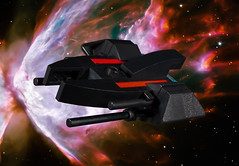 Shadow Fury (EliteGuard01) Tags: lego ldd moc legodigitaldesigner destiny space spaceship sciencefiction scify butterflynebula nebula hkmlooterclasstransport shadowfury mercenary bountyhunter transport modified