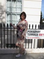 Start of a long walk along the embankment (janegeetgirl2) Tags: transvestite crossdresser crossdressing tgirl tv ts trans outside london dress outdoors sightseeing wrap converse shoes