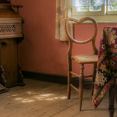 Bygones (1 of 3) (+Pattycake+) Tags: chair indoors victorian window museum rurallife floorboards textures curtains norfolk gressenhall bygones light yesteryear rurallifemuseum inside rooms decor interior furnishings victoriana old antique vintage