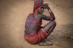 Quiet Reflection (alphonso49uk) Tags: hamer woman bulljumpingceremony whip scar ethiopia omovalley