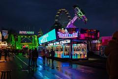 I should well (gambajo) Tags: kirmes jahrmarkt funfair fair neon lights people street streetphotography dark reflection wet night nass dunkel