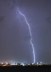 Electric Show 2 (Alex Savenok) Tags: lightning thunder show night landscape israel israelnature longexposure centralisrael light weatherwinter weather d610 citysky
