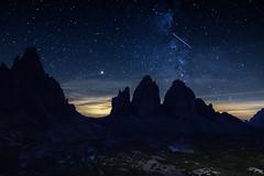 Tre Cime at Night (Bergfex_Tirol) Tags: bergfex nacht dolomiten night italy peak berg italien mountain südtirol alpen alps dolomiti tyrol summit gipfel lavaredo sterne milchstrase stars 3zinnen trecime milkyway southtyrol