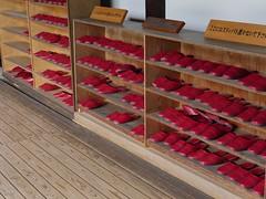 Ordre et rigueur (EP61) Tags: japan japon e©️p lignes rojo red rouge rigueur ordre pantoufles shine temple