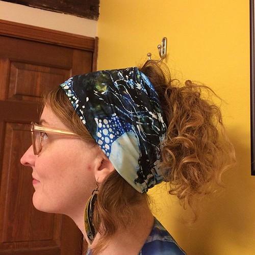 #etsy shop: Blue Horse Headband/Scarf - Horse Born of Moon Energy - Horse Batik https://etsy.me/2UlqaOY. Last week to order To get before Christmas #batik #headbands #horse #amityfarmbatik