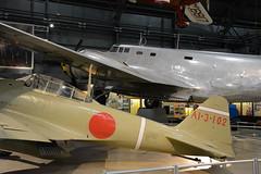 USAF_0067  Mitsubishi A6M2 Zero 51553 - Douglas B-18A (kurtsj00) Tags: usaf museum wright patterson nationalmuseumoftheusairforce mitsubishi a6m2 zero 51553 douglas b18a