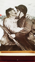20171116_161115 [ps] - Traditional Values (Anyhoo) Tags: anyhoo photobyanyhoo london england uk tatemodern tate art russian soviet redstaroverrussia poster photograph metaphotograph meta collage edited doctored red kissing men males propaganda embrace menkissing peasant soldier