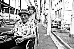 For better or worse, getting old together (Victor Borst) Tags: street streetphotography streetlife reallife real realpeople asia asian asians faces face candid travel travelling trip traveling urban urbanroots urbanjungle osaka fuji fujifilm xpro2 expression old poverty people povert portrait streetportrait mono monotone monochrome blackandwhite bw city cityscape citylife shinimamiya