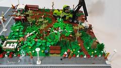 Waldstück (Woodland) 04 (-Nightfall-) Tags: lego moc wald waldstück woodland harvester fendt vario 500 f231 gt forest forestrymulcher forestblade polterschild mulchfräse