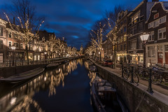 Amsterdam Blue Hour (angheloflores) Tags: amsterdam spiegelgracht rijksmuseum travel canal houses night lights bridge colors longexposure urban explore architecture netherlands holland angelflores clouds sky colours