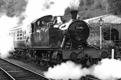 5541 GWR 4575 Prairie Tank (Roger Wasley) Tags: 5541 gwr 4575 prairie tank daan forest railway steam engine locomotive heritage preservation trains railways bw mono blackandwhite monochrome