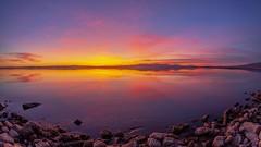Splendid Smooth Still Shiny Sparkling Saturday Salton Sea Sunset Timelapse (slworking2) Tags: sunset niland timelapse saltonsea sky clouds california desert reflection lake nilandmarina salton weather