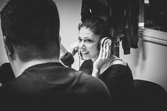 A beautiful speaker (maxlaurenzi) Tags: speaker woman black white radio studio music voice night italy virgilio