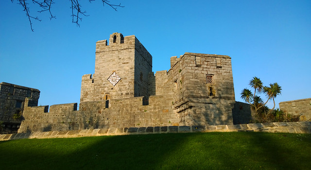 Castle Rushen in the sunshine. image