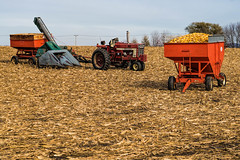 picking corn in Illinois (Thomas DeHoff) Tags: corn picker farm equipment harvest illinois sony a77mk2