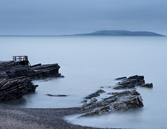 Stillness. (cassidyduberry) Tags: still island seascaper gseries 70200mm sonya7ii sony photography landscapephotography landscape seascape ireland dublin rock beach longexposure coast sea