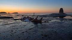Last Light over Von Tromp - Explored Nov 2018 (Justin Cameron) Tags: whitby admiralvontromp blacknab saltwickbay shipwreck sunset