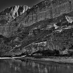 1200' Walls of the Boquillas Canyon (Black & White, Big Bend National Park) thumbnail