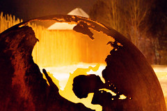 India is Visible Through Mexico (JeffStewartPhotos) Tags: firepit fire tryingtokeepwarm warmth light night nighttime coldoutside winter globe northamerica asia india christmas saintemarie saintemarieamongthehurons midland ontario canada firstlight jsp2018120870