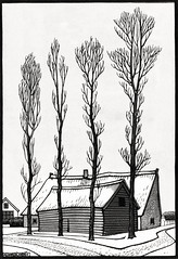 Winter (1920) by Julie de Graag (1877-1924). Original from The Rijksmuseum. Digitally enhanced by rawpixel. (Free Public Domain Illustrations by rawpixel) Tags: antique art artwork bald baldtree drawing house illustrated illustration illustrator juliedegraag old pdrijks publicdomain rijksmuseum sketch tree vintage winter woodcut