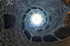 Initiation Well (Douguerreotype) Tags: lisboa lisbon spiral stairs geometry stone helix portugal architecture geometric