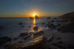 Buscando tu alma... (protsalke) Tags: longexposure bolonia andalucia calm soul colors lights sun sunset beach coast landscape waterscape luces colores sky atardecer rocks water paisaje oceano costa playa ndfilter