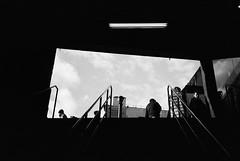 portal (ekonon) Tags: pushedonestop monochrome olympusxa2 1 blackandwhite film filmphotography canalstreet frombelow
