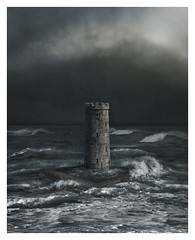 Sea Tower (Kath Salier) Tags: southcurlcurl composite storm mood waves water tower clouds
