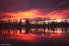 Sweet fire - sunset (JSB PHOTOGRAPHS) Tags: nd37933 sunset nikon d3 18300mm water sky clouds trees altonbakerpark eugeneoregon sion nd10 neutraldensity