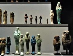 Egyptian ushabti (SM Tham) Tags: europe germany bavaria munich statemuseumofegyptianart egyptology museum display art culture funeraryobjects ushabti attendants statues figurines death shelves hieroglyphs