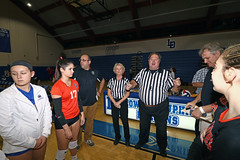 IMG_8381 (SJH Foto) Tags: girls high school volleyball garden spot palmyra regional semifinals canon 1018 f4556 stm superwide lens pregame ceremonies ref referee captains coin toss