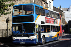 18380 MX55 KRO 10-2018 (Cumberland Patriot) Tags: stagecoach north west england cumbria cumberland motor services cms morecambe white lund depot trident adl alexander dennis ltd alx 400 alx400 18380 mx55kro low floor double decker bus derv diesel engine road vehicle lancaster route service
