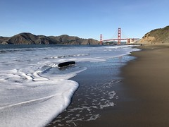 (chriswitwer) Tags: california waves sanfranciscobay bay beach goldengatebridge bridge gate golden sf sanfrancisco bakerbeach