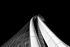Out of the blue and into the black (Giuseppe Di Giulio) Tags: bw building city citylife gdg pattern skyscraper milano lombardia italy it