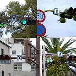 道路案内標識の写真