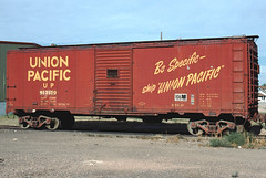 UP Box Car at LaSalle, CO August, 2001 (blupenny99) Tags: up unionpacific boxcar trains railroads